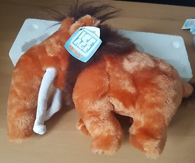 """ICE AGE MANNY Soft Toy Plush Woolly Mammoth With Tags Jakks 14""""L 10""""H"""