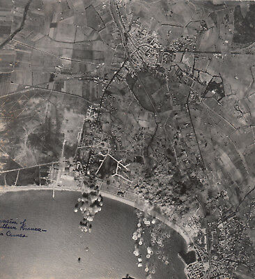 Original AAF Aerial Photo 461st BOMB GROUP BOMBING INVASION CANNES FRANCE 21