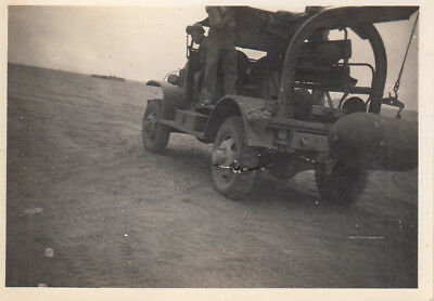 Original WWII Photo 98th or 376th Bomb Group M6 BOMB SERVICE TRUCK 1942 Egypt 17