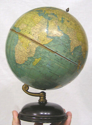 "Vtg World Globe Cram Desk Top 8"" Model 1950s"