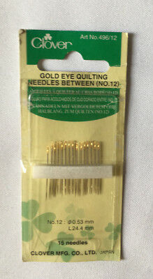 Clover 15 needles between, quilting. size No 12, new unopened