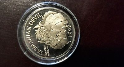 1998 Warner Bros Tasmanian Devil Coin New