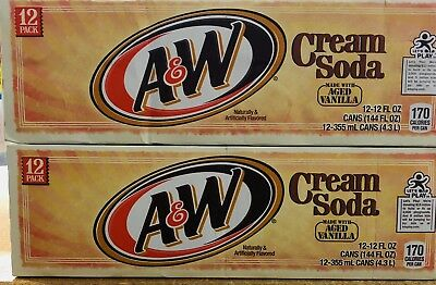 A&W CREAM SODA (Made with AGED Vanilla) 24 cans (355ml)