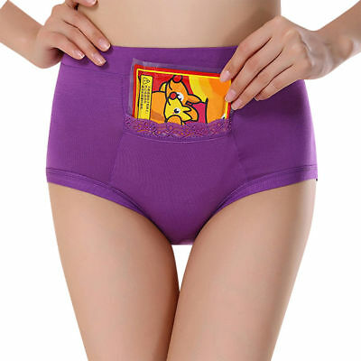 Womens High Waist Panties Menstrual Period Underwear Leakproof Brief With Pocket