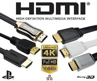Vertex® HDMI Cable 2.0 High Speed Gold Plated Braided Lead 2160p 3D HDTV UHD