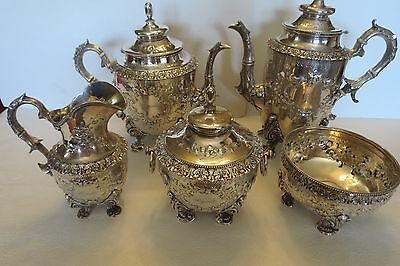 William Gale & Son Sterling Coin TEA & COFFEE SERVICE NEW YORK 1855