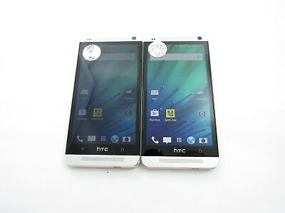 Lot of 2 HTC One M7 PN07200 Sprint Check IMEI Near Mint Condition 4-1396