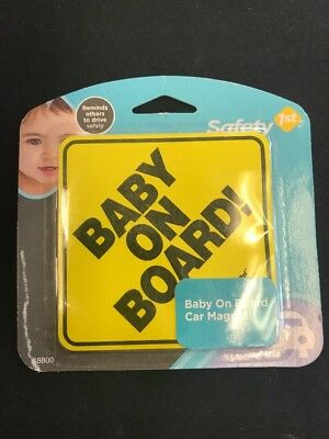 Baby On Board Car Magnet Safety First New sign window hanger