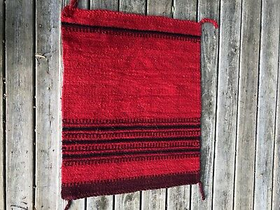Southwest Hand Wove Rug Wall Hanging 29 inches x 36 inches Vibrant Red