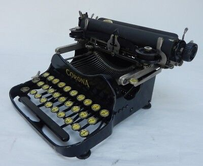 Vintage 1917 Corona 3 Fliptop Portable Typewriter with Case 120905