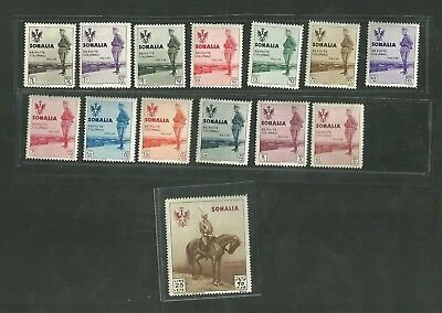 Complete Set Of Somalia Stamps B38 - 51 Cent Lire Africa