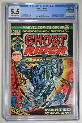 GHOST RIDER #1 CGC 5.5 1st App. SON OF SATAN OW/W Pages Marvel 9/1973