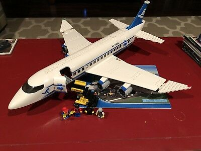 Lego City Airplane Passenger Plane 7893 100 Complete W Minifigs