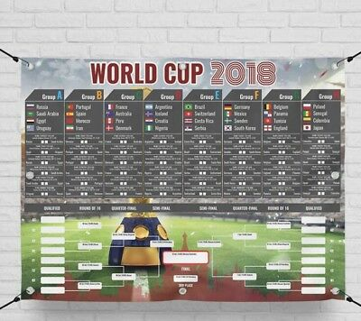 World Cup 2018 Wall Chart Russia 2018 – PVC – 182cm x 137cm 6ft Huge Massive