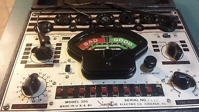 Simpson Vintage TubeTester Radio Model 305