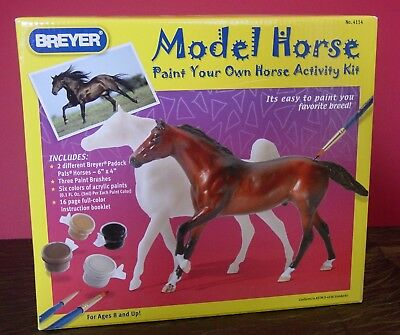 NEW IN BOX BREYER 4114 Paint Your Own Horse - Model Horse Activity Kit - RETIRED