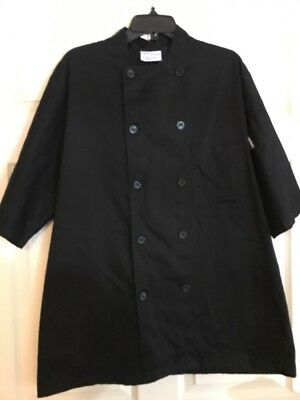 Chef Works Black Double Breasted Chef Coat Size Large