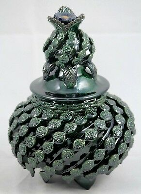 Mexican Ceramic Pineapple/Lid Folk Art Hand Made Collectible Home Decor Pottery