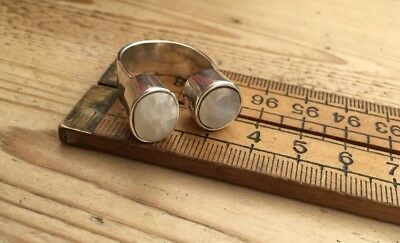 Chunky Vintage Silver 925 And Moonstone Ring, Vintage Moonstone & Silver Ring
