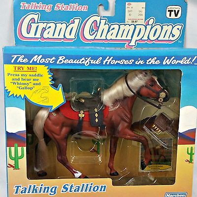 Grand Champions Horse 1992 Talking Stallion 50027 Play Set NIB Brown