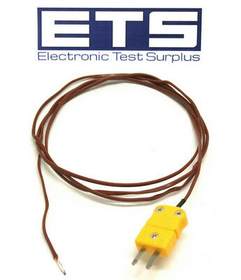 Type K Thermocouple Plug w/ 3' Wire Lead