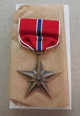 Orig. New Old Stock WW2 1944 Bronze Star Medal Slot Broach by Swank Inc Free S/H