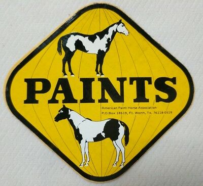 American Paint Horse Association Decal Sticker Paints Yellow Triangle 2 Horses