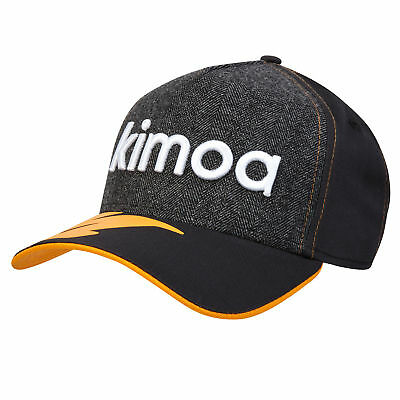 McLaren Official 2018 Fernando Alonso Kimoa Trucker Cap by New Era Anthracite F1