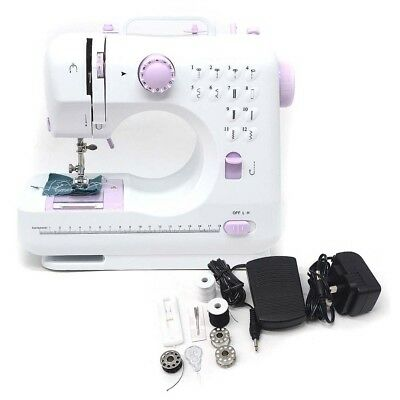 Multifunction Electric 12 Stitches Sewing Machine Led Foot Pedal Bobbin Winder