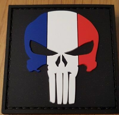 patchs écussons  velcro the punisher 5X5cm PVC neufs France