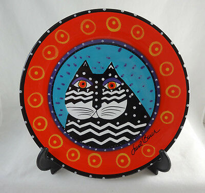 Laurel Burch for Ganz Cat Collector Plate NEW Mint Condition Hand Painted