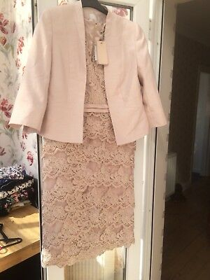 Gorgeous pale pink/nude Mother Of The Bride Outfit. Jacques Vert Size 12