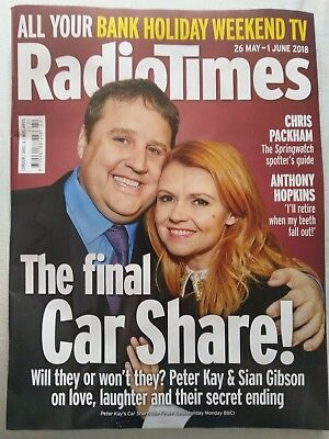 Radio Times magazine 26 May - 1 June 2018 (Peter Kay's Car Share Finale BBC TV)
