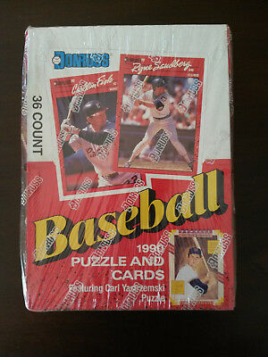 1990 Donruss Baseball Puzzle and Cards Factory Sealed Box of 36 Unopened Packs