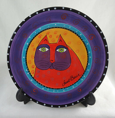 Laurel Burch for Ganz Red Cat Collector Plate NEW Mint Hand Painted