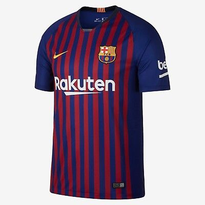 c1ebfa36b Nike FC Barcelona Official 2018 2019 Home Soccer Football Jersey
