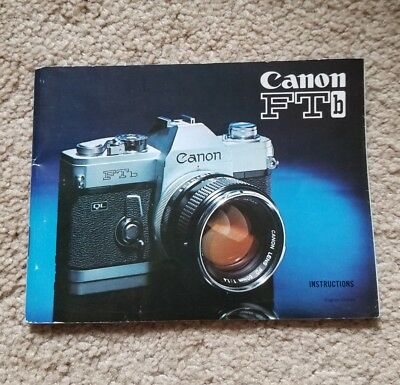 VINTAGE CANON FTb CAMERA INSTRUCTION MANUAL