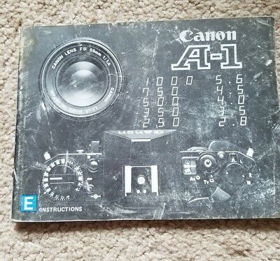 Vintage Canon A-1 Camera Instruction Manual