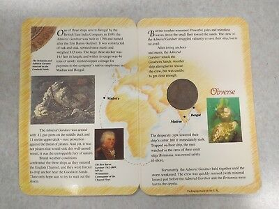 East India Company Admiral Gardner Shipwreck Copper Cash Coin 1808 Booklet