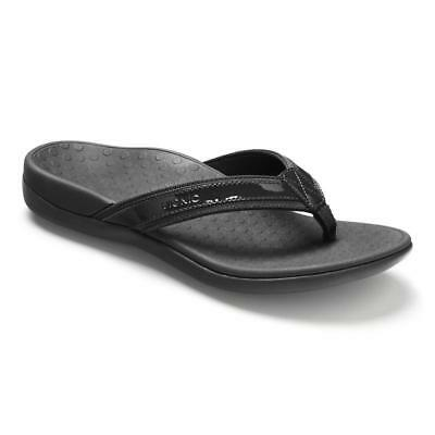 aad6de8d1c9 Women s VIONIC Tide II Toe Post Flip Flops Sandals BLACK US SIZES---NEW