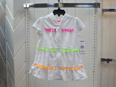 Toddler Girls Flapdoodles Size 2T & 3T $28 White Hooded Swimsuit Cover