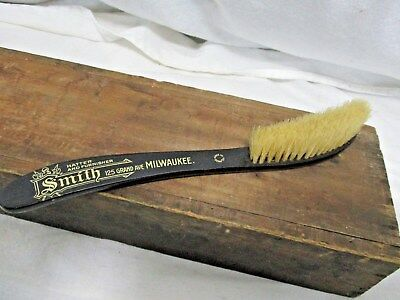 Rare Vintage Antique Advertising Hat Brush Smith Hatter And Furniture Wisconsin