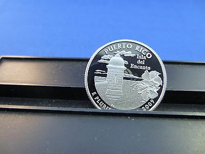 2009-S Silver Quarter Puerto Rico Deep Cameo Mirror Proof Upper Grading Ranges
