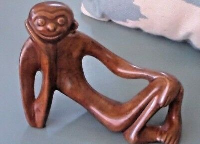 Vintage, Whimsical, Ceramic Mid Century Modern Monkey ~ Gorgeous Finish!