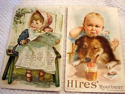 Hires And Favorite Cream Root Beer Victorian Trade Cards