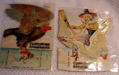 2 Lion Coffee Children's Dolls With Stories Victorian Trade Cards