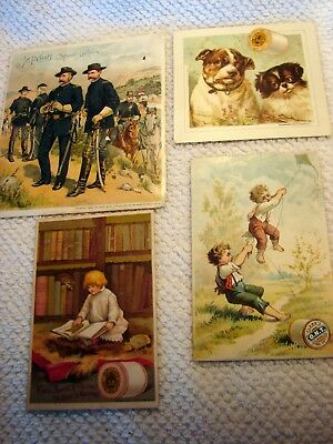 4 J & P Coats And Clarks Victorian Trade Cards