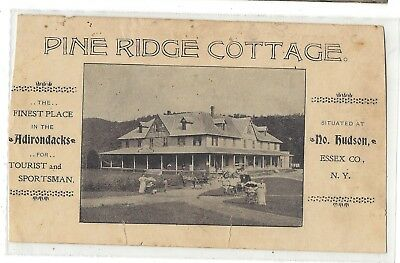 NY Adirondacks Vintage Pine Ridge Hotel / Cottage Paper Advertising