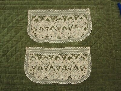 2 pieces Antique Handmade Lace, very delicate.