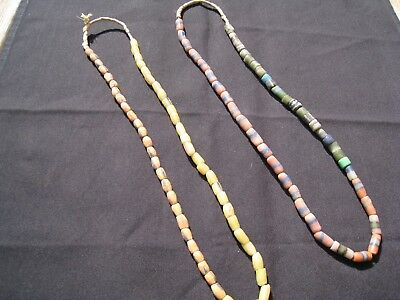 Lot of 2 Vintage & Antique Native American Indian Trade Bead Necklaces Group 30